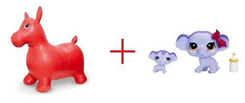 Imaginarium Bouncy Horse and Littlest Pet Shop Pet and Friend - Elephant and Baby Elephant - Bundle