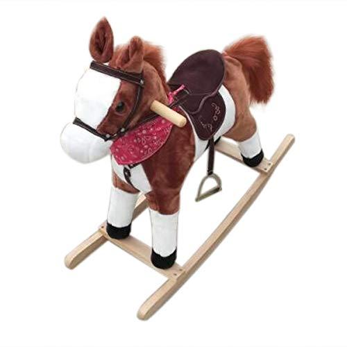 Velraptor Plush Rocking Horse Kids Ride On Pony Rocking Horse Toy for Children Girls Boys