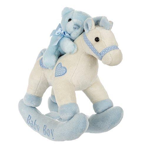 Aurora Baby Plush Rocking Horse BlueWhite by Aurora Baby