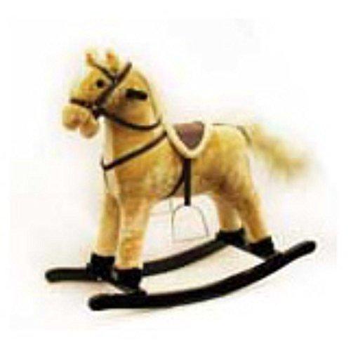 PonyLand Toys Soft Plush Animated Rocking Horse