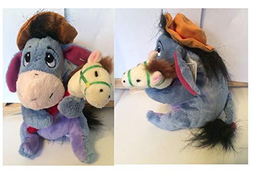 Plush Cowboy Eeyore Holding Hobby Horse Bean Bag New