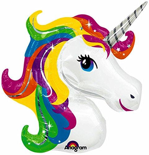 33 UNICORN HEAD BALLOON - Amazing New HOVERING ANTI-GRAVITY TOY - Free Floating FLYING Horse Pegasus Pony Animal Kingdom Fantasy Fairy Tale Birthday Party Favor