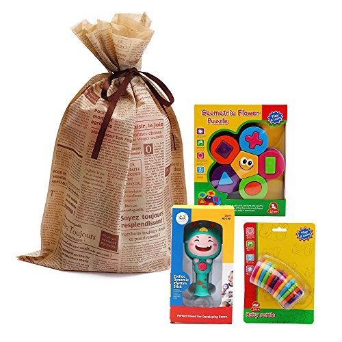 Baby Shape Sorter Stacker Rattles Toys Baby Teether Links Christmas Gift Set for Toddler