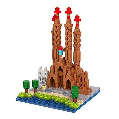 Fus storeTM The World Famous Buildings The Sagrada Familia Barcelona Spain Building Architecture Parent-child Games Building Blocks Diamond Blocks Childrens Educational Toys