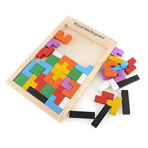 Generic Children Educational Toys Boys Girls DIY Toys Wood Tetris Intellegence Colorful Puzzle Toys