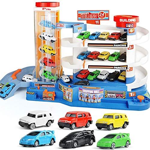 Garage Playset 3D Car Parking Garage Toys DIY Model Assembly Construction Building Set Boy Girl Birthday Present Car Transporter for Kids Educational Toy Transport Color  20pcs car