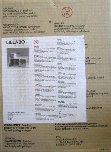 Ikea LILLABO Toy WOOD CAR PARKING GARAGE Assembled SIZE 14-14 x 10-14 x 6 Tall SECOND PIECE 13-12 x 9-12 x 5-12 Tall Includes Pivoting Garage Lift Ramp