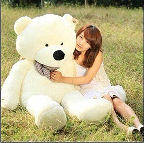 Qiyun 47` White color 12M Giant Huge Cuddly Stuffed Animals Plush Teddy Bear Toy Doll