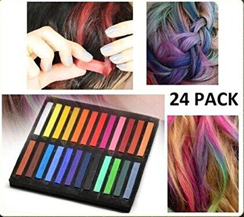 24 Colors Fashion Hair Color Soft Chalk Non-toxic Temporary Salon Color Hair Chalk Dye Pastels