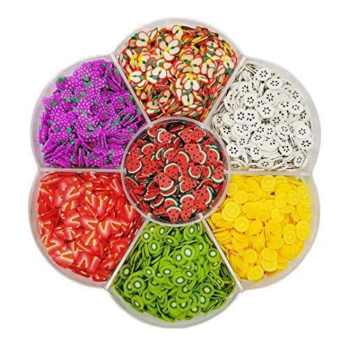 Assorted Fruit Slices 90g Fimo Wheel - Slime SuppliesSlime AcessoriesSlime Add insPolymer ClayNail Art Kit Maker Ingredients Set Bulk Homemade Variety for Kids