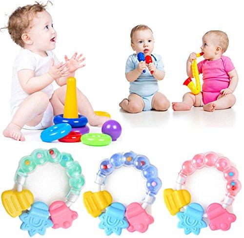 Baby Infant Kid Rattles Biting Teething Teether Balls Toys Circle Ring