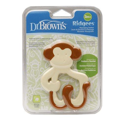 Dr Browns Ridgees Monkey Teether Brown 1 ea pack of 5
