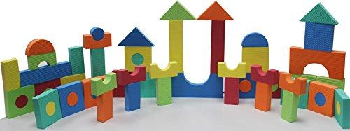 EVA Stacking Sorting Foam Building Blocks 64 Multicolor Shapes For Kids