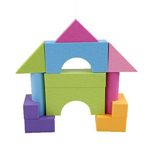 HENG SONG 53-piece EVA Foam Building Blocks Bricks Set Imagination Toys