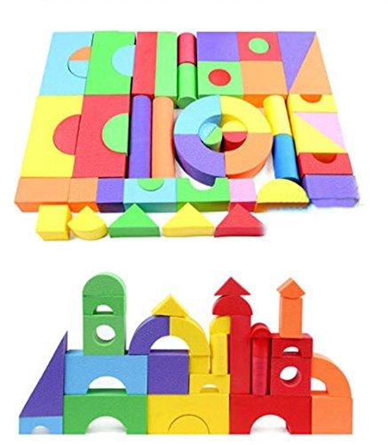 Newcreativetop Creative Educational EVA Foam Building Blocks50pcs