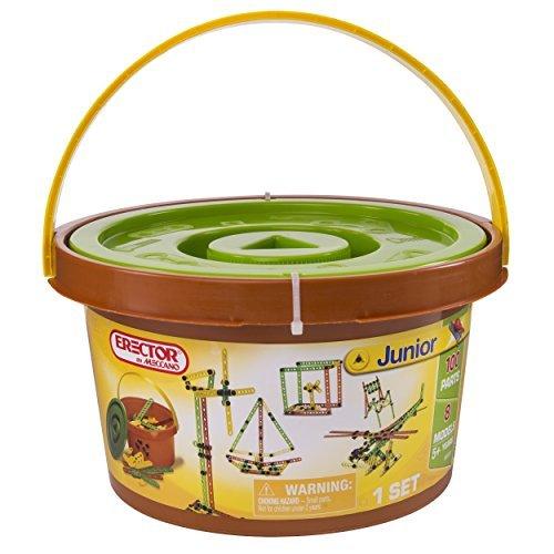Mechano Meccano Erector Junior 100 Pieces Bucket 6024797 parallel import goods
