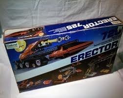 Gabriel Mechano Erector 725 Vintage Construction System Motorized Remote Control  Dual Chassis Set