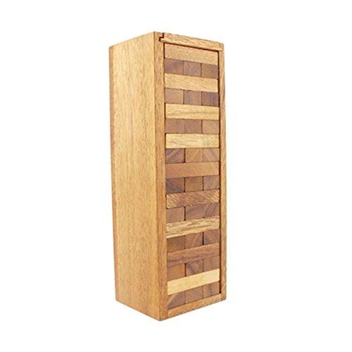 BRAIN GAMES Wooden Tower Game 54 Blocks 18 Inch Jumbo XXL