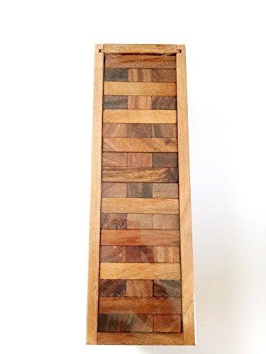 BRAIN GAMES Wooden Tower Game 54 Blocks 7 Inch S