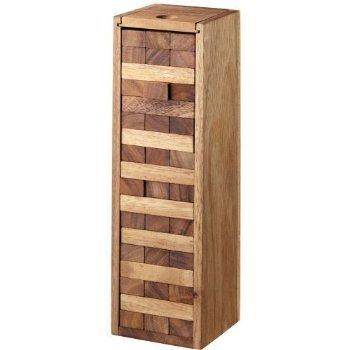 Handmade Wooden Tower Game 54 Blocks 9 Inch Medium