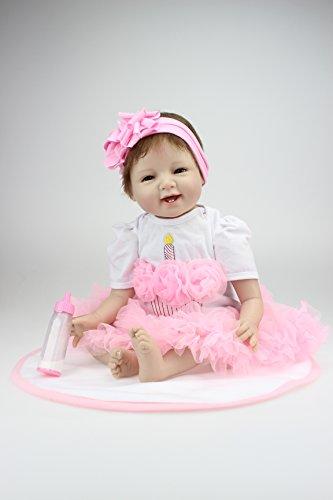 22 55 CM Handmade Real Looking Realistic Reborn Baby Dolls Newborn Baby Vinyl Silicone Newborn Doll for Birthday Gift Free Magnet Pacifier Dummy