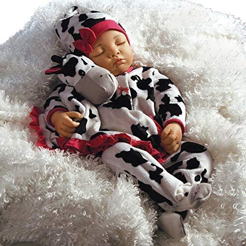 Paradise Galleries Reborn Baby Girl Newborn Doll Over The Moooon 19 inch Sleeping Baby in GentleTouch Vinyl 4-Piece Set