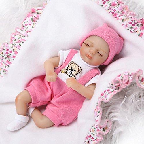 Pinky 20cm 8 Inch Mini Reborn Baby Palm Doll Hard Vinyl Silicone Girl Boy Twins Realistic Newborn Dolls Xmas Birthday Present Girl