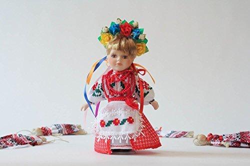 Homemade Ethnic Collectible Porcelain Doll Ukrainian Pretty Girl Gift Ideas Women