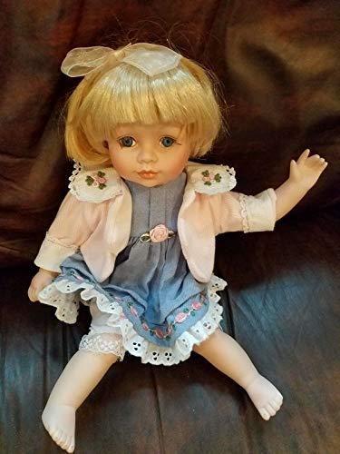 Kingdom Collectibles Porcelain Doll by Artist Yolando Bello  11 Blond Girl Waving Maybe ADG
