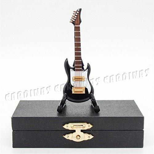 Black Electric Guitar 112 Miniature Musical Instrument Music DollHouse Figure