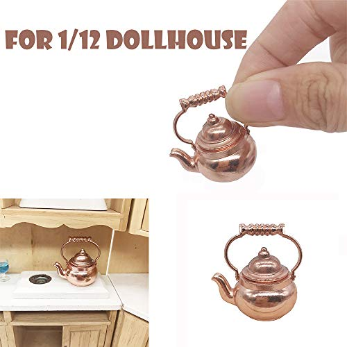 Girls Pretend Retro Kettle Pot Open Lid Toy for 112 Scale Dollhouse Miniature Kitchen Cookware Furniture - Can Really Cook With Fire13x13x25 CM1Pcs Yellow