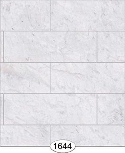 Dollhouse Wallpaper Marble Slabs White