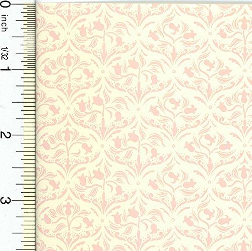 Dollhouse Wallpaper Pink Tulip Arabesque