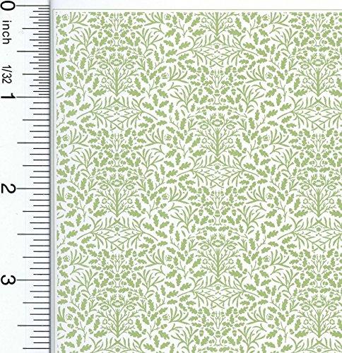 Dollhouse Wallpaper William Morris Green Acorns