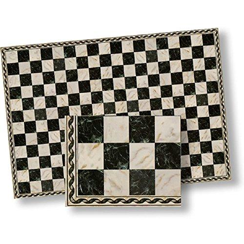 Dollhouse Flooring Black White Faux Marble Floor Tile