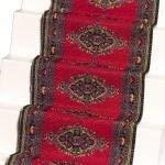 Melody Jane Dollhouse Woven Stair Carpet Runner Red 112 Miniature Flooring