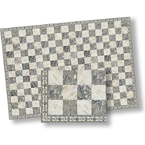 World Model 124 Dollhouse Flooring Faux Marble Checkered Floor Tile