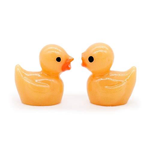 Odoria 112 Miniature 2PCS Bath Toy Yellow Duck Dollhouse Bathroom Accessories