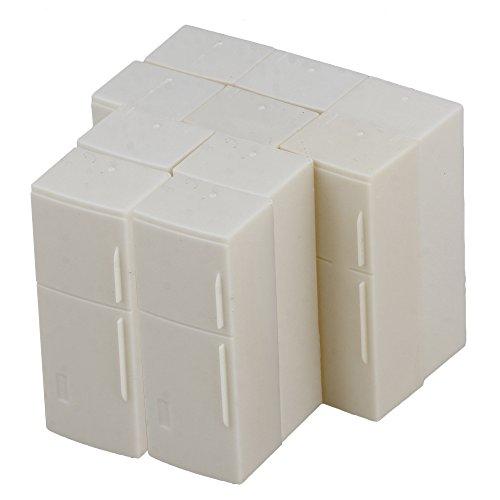 BQLZR White Scale 120 Plastic Dollhouse Fridge DIY Model Kitchen Layout Miniatures Furniture Kids Toy Pack of 10