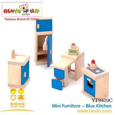 Wooden Dollhouse Kitchen Furniture Appliances