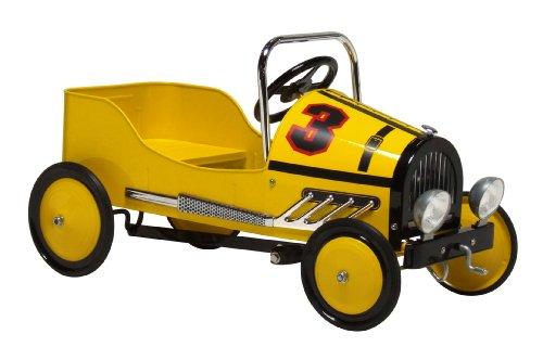 Morgan Cycle Retro Style Racer Pedal Car Yellow