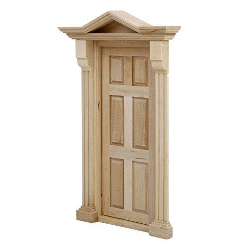No brand goods 112 dollhouse door wooden steeple top handmade