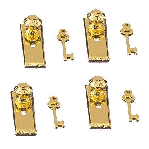 No brand goods doll house door lock key set DIY accessories