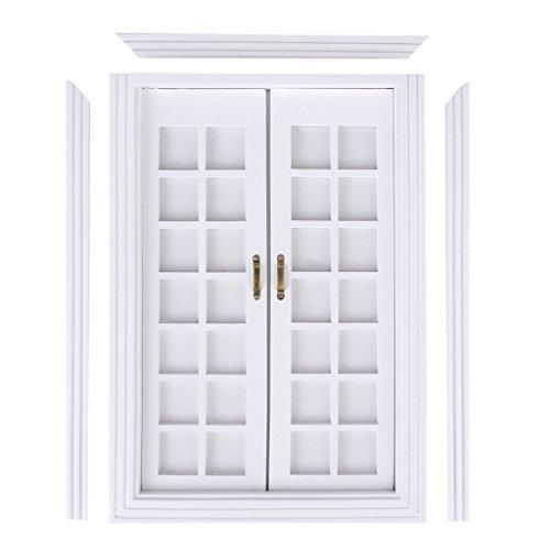 No brand goods dollhouse door wooden white 112 DIY accessories decoration