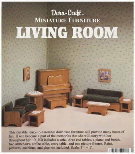 Dura-craft Miniature Dollhouse Living Room Furniture by Duracraft