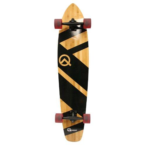 Quest Super Cruiser Artisan Bamboo Longboard Skateboard 44