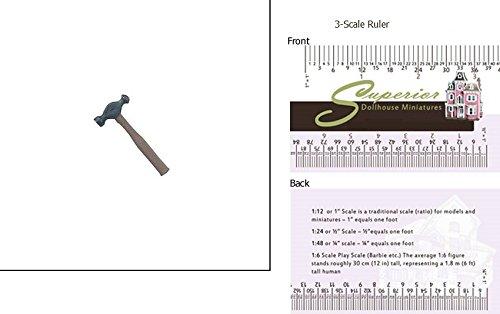 1 Scale Dollhouse Ball Peen Hammer
