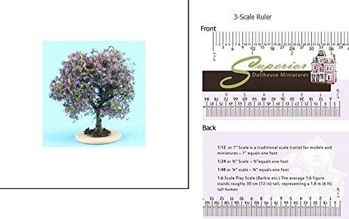 1 Scale Dollhouse Bush Purple-Blue Small