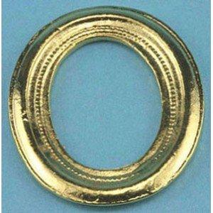 1 Scale Dollhouse Oval Gold Tone Frame