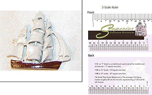 Dollhouse Miniature Toy Sailing Ship